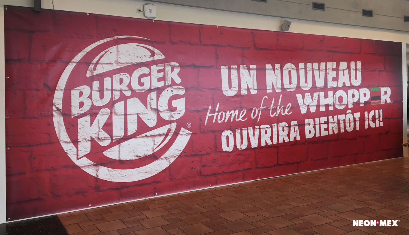 Burger King-Bâche en PVC
